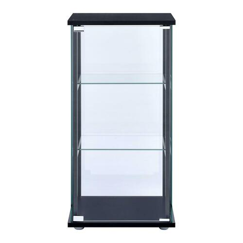 Gallery - Contemporary Black and Glass Curio Cabinet