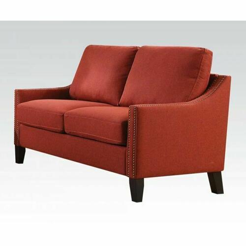 ACME Zapata Loveseat - 52491 - Red Linen