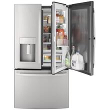 GE 27.7CF Fingerprint Resistant Stainless Steel French-Door Refrigerator with Door In Door