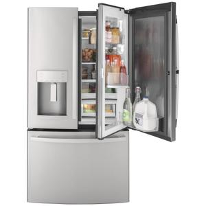 GE® 27.7 Cu. Ft. Fingerprint Resistant French-Door Refrigerator with Door In Door - FINGERPRINT RESISTANT STAINLESS
