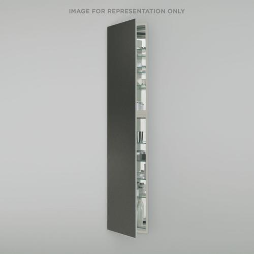 """M Series 15-1/4"""" X 70"""" X 6"""" Full Length Cabinet In Tinted Gray Mirror With Left Hinge and Electric"""