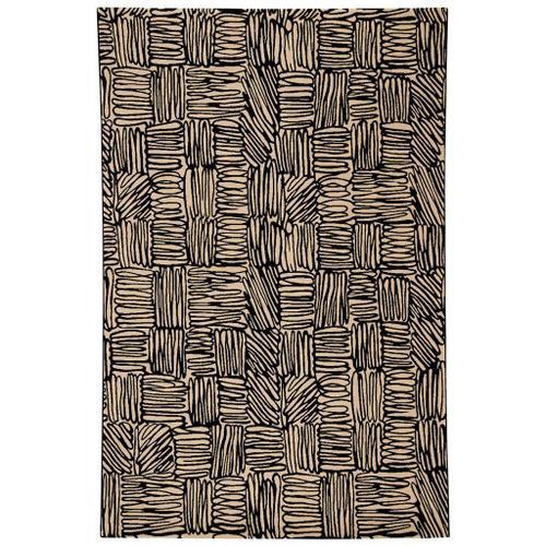 "Capel Rugs - Doodles Raven - Rectangle - 5'3"" x 7'6"""