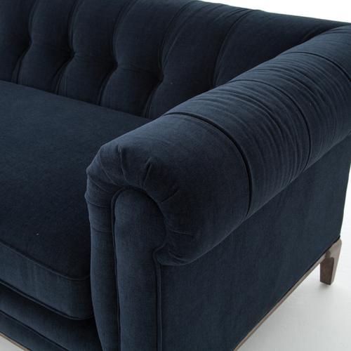 Plush Navy Cover Griffon Sofa