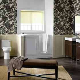 Luxury Series 30x51-inch Soaking Walk-In Tub  Right Drain  American Standard - White