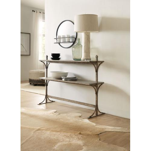 Living Room La Grange South 77 Metal and Wood Console