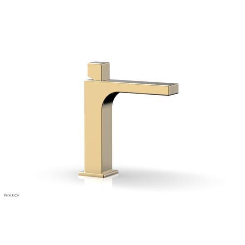 MIX Single Hole Lavatory Faucet, Cube Handle 290-08 - Satin Brass