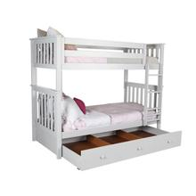 See Details - Twin/Twin Bunk + Trundle Storage White