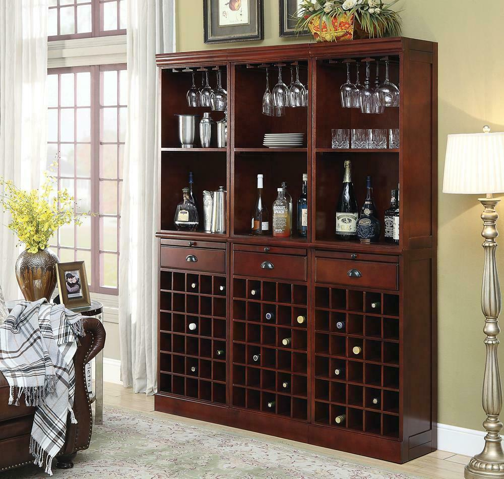 Classic Cherry Wall Bar Unit