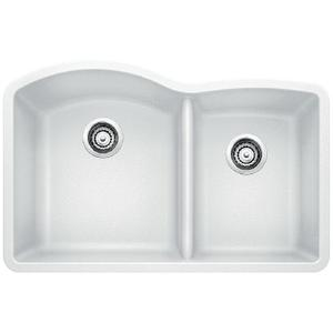 Diamond 1-3/4 Bowl With Low Divide - White