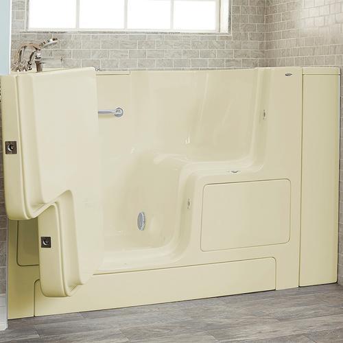 Gelcoat Premium Series 32x52 Walk-in Tub with Outward Opening Door, Left Drain  American Standard - Linen