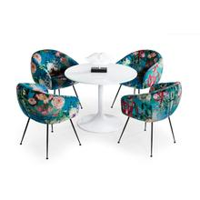 View Product - Modrest Karen - Mid-Century White Round Dining Table