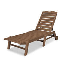 View Product - Nautical Chaise with Wheels in Teak