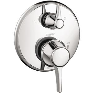 Chrome Pressure Balance Trim with Diverter, Round Product Image