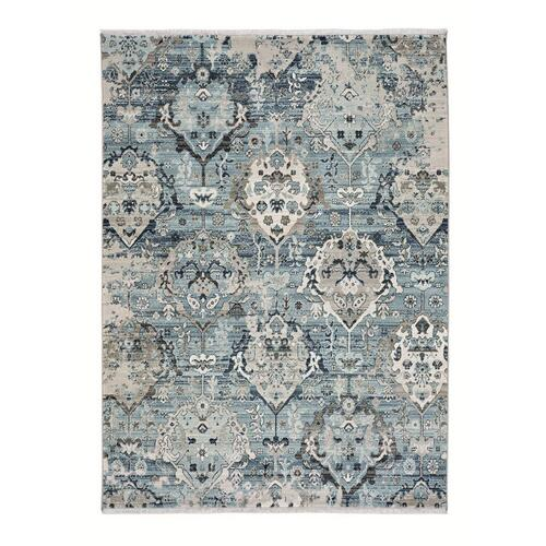 "Landis-Isfahan Slate Blue - Rectangle - 3'3"" x 4'10"""