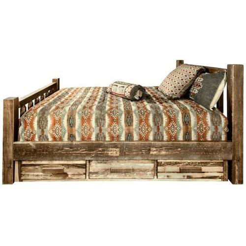 Montana Woodworks - Homestead Collection Beds with Storage, Stain and Lacquer Finish