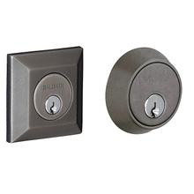 Distressed Antique Nickel Squared Deadbolt