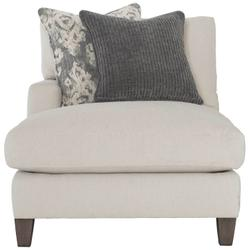 Mila Left Arm Chaise in Aged Gray (788)