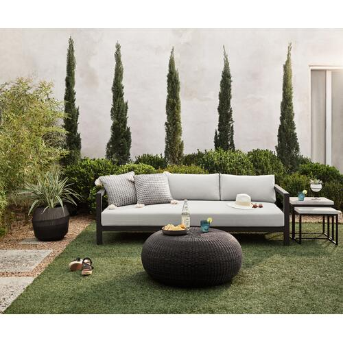 "88"" Size Stone Grey Cover Sonoma Outdoor Sofa, Bronze"