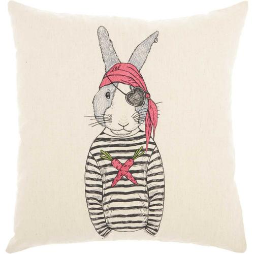 """Trendy, Hip, New-age Rn009 Natural 18"""" X 18"""" Throw Pillow"""