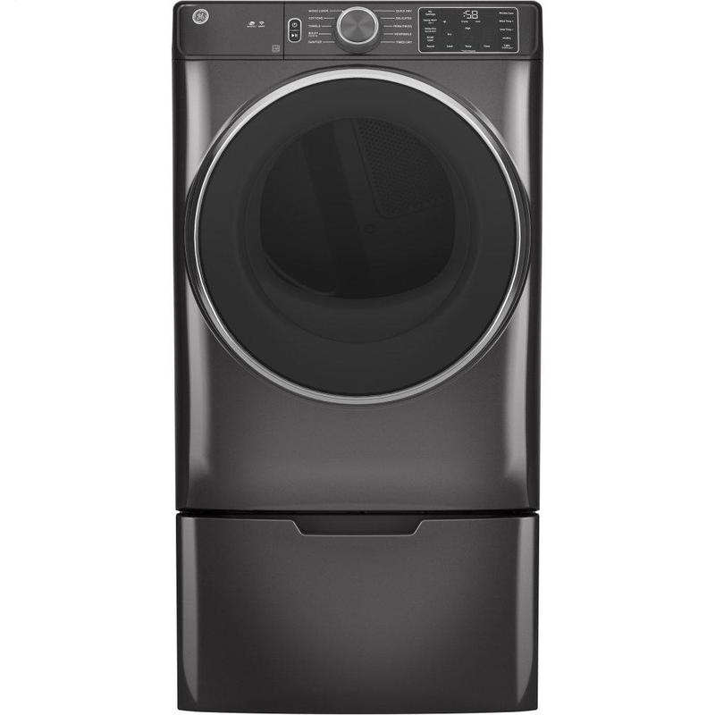 GE® 7.8 cu. ft. Capacity Smart Front Load Electric Dryer with Sanitize Cycle