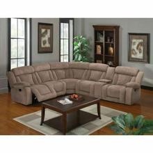 ACME Kylie Sectional Sofa (Motion) - 53880 - Tan Fabric