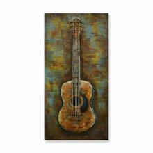 Guitar Solo 16x32 Metal Wall Art