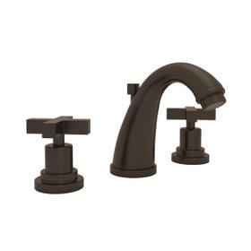 Tuscan Brass Lombardia C-Spout Widespread Lavatory Faucet with Cross Handle