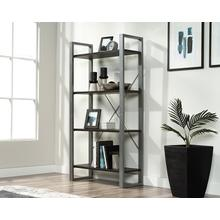 Contemporary 4-Shelf Metal & Wood Bookcase