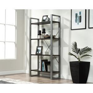 SauderContemporary 4-Shelf Metal & Wood Bookcase