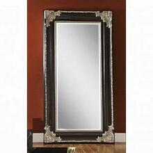 ACME Karol Accent Mirror (Floor) - 97111 - Silver & Black