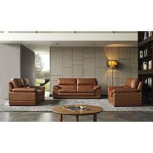 Product Image - Divani Casa Kendrick - Traditional Modern Cognac Leather Sofa Set