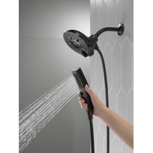 Matte Black In2ition ® H 2 Okinetic ® 5-Setting Two-in-One Shower