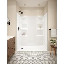 White ProCrylic 60 in. x 30 in. Shower Surround