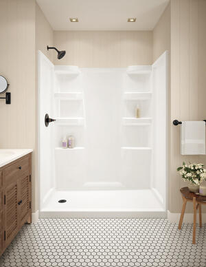 White ProCrylic 60 in. x 30 in. Shower Surround Product Image