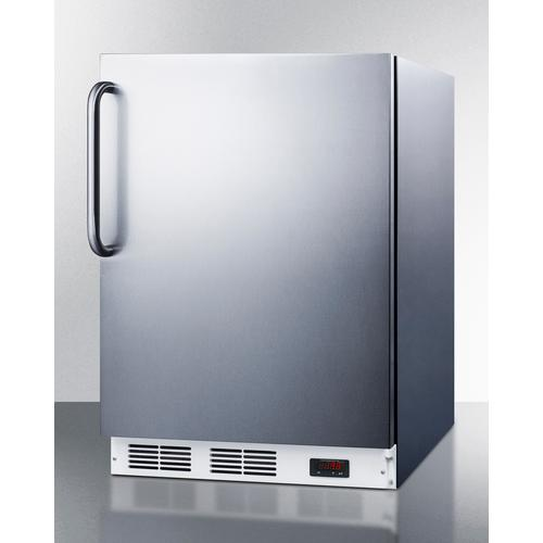 Commercial ADA Compliant Built-in Medical All-freezer Capable of -25 C Operation, With Complete Stainless Steel Exterior