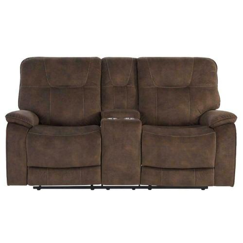 COOPER - SHADOW BROWN Manual Console Loveseat