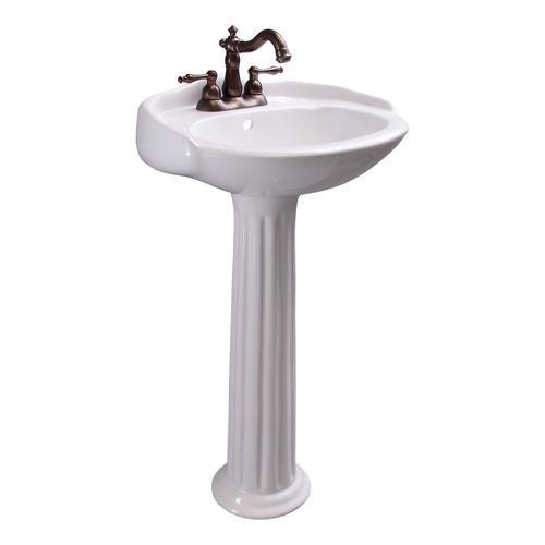 "Arianne Pedestal Lavatory - 4"" Centerset"