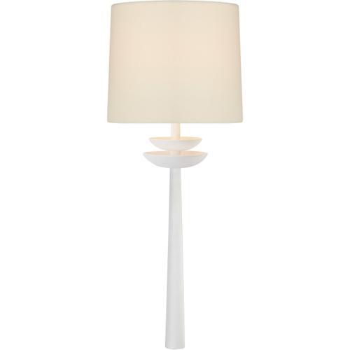 AERIN Beaumont 1 Light 8 inch Matte White Tail Sconce Wall Light, Medium