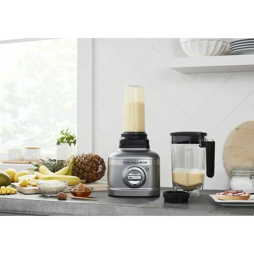KitchenAid Canada - KitchenAid® K400 Blender with Personal Blending Jar - Contour Silver
