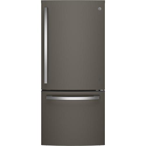GE Appliances - GE® ENERGY STAR® 21.0 Cu. Ft. Bottom-Freezer Refrigerator