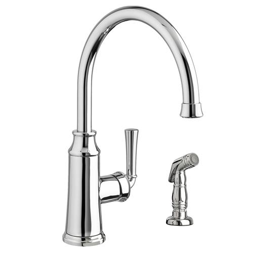 American Standard - Portsmouth 1-Handle High-Arc Kitchen Faucet with Side Spray - Polished Chrome