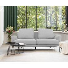 View Product - Divani Casa Dolly - Modern Light Grey Loveseat