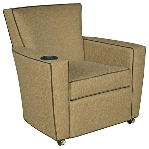 Fairfield - Payton Lounge Chair with Front Casters, Cupholder