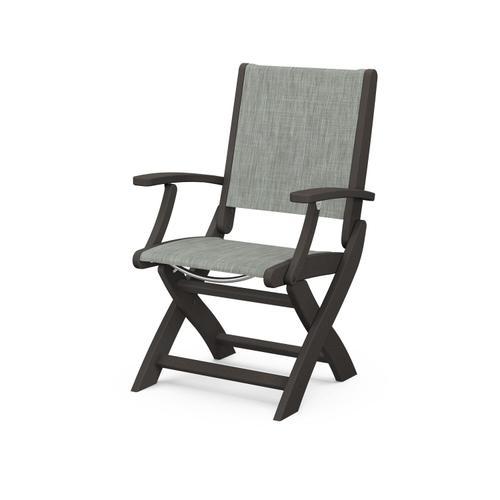 Coastal Folding Chair in Vintage Coffee / Birch Sling