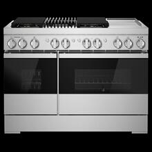 "NOIR™ 48"" Dual-Fuel Professional Range with Chrome-Infused Griddle and Gas Grill"