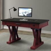 AMERICANA MODERN - CRANBERRY 56 in. Power Lift Desk (from 23 in. to 48.5 in.) (AME#256T and LIFT#200BLK) Product Image