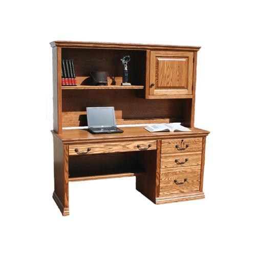 "O-T698 Traditional Oak 57"" 3-Drawer Computer Desk"