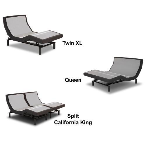 Leggett and Platt - Prodigy 2.0 Adjustable Bed Base with MicroHook Retention System, Charcoal Black Finish, Split King