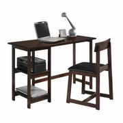 ACME Vance 2Pc Pack Desk & Chair - 92046 - Black PU & Espresso Product Image