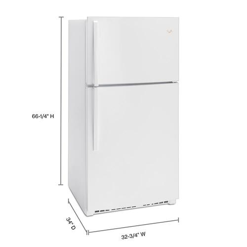 Gallery - 33-inch Wide Top Freezer Refrigerator - 21 cu. ft.